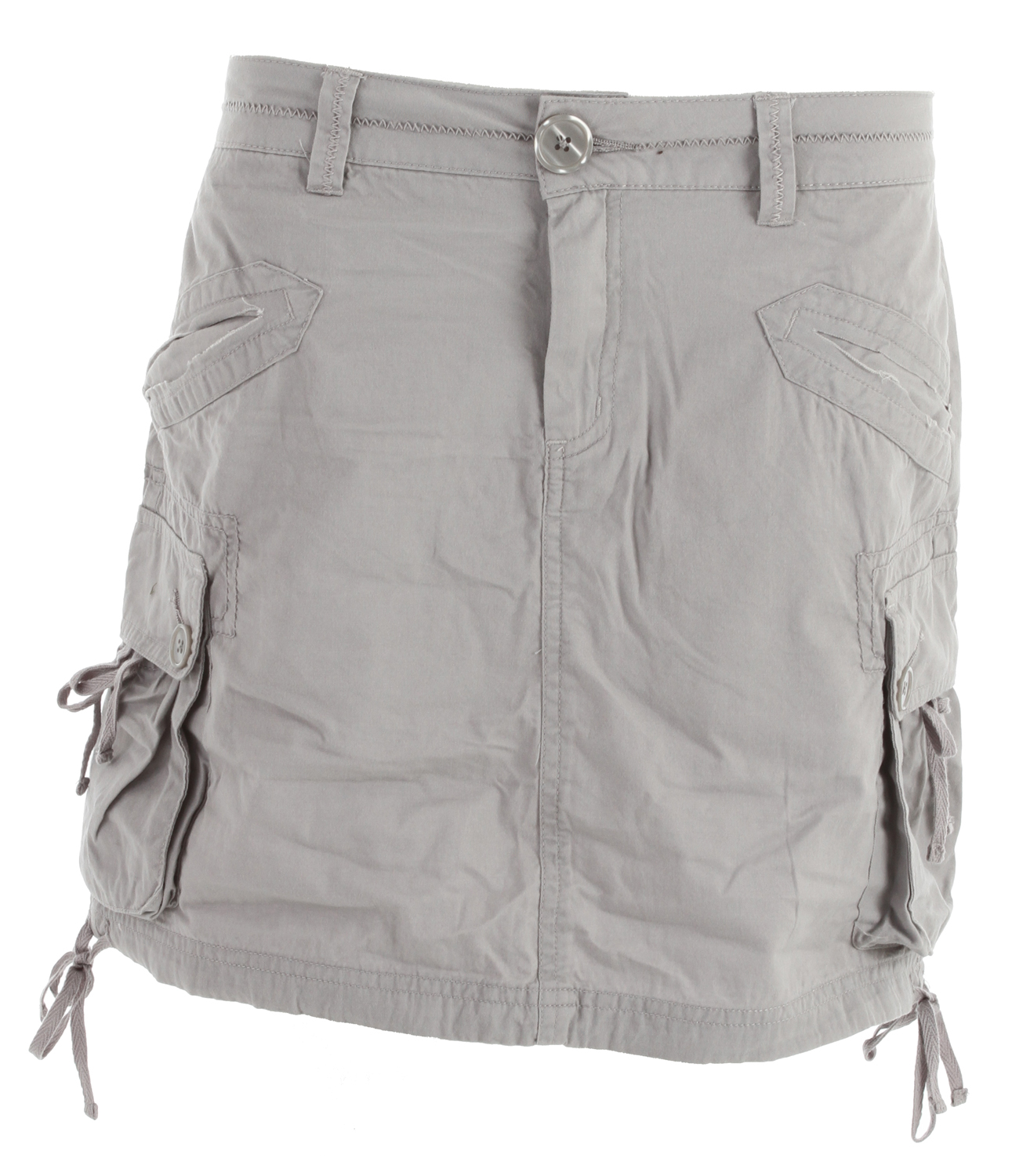 "The lightweight twill Ellia is ready for a day in the sand, a night on the town, and anything in between. A do-it-all skirt for a do-it-all person, made from 100% organic cotton.Key Features of the Prana Ellia Cargo Skirt: Lightweight twill with enzyme wash Front welt pockets Side cargo pockets Twill tape adjustments at bottom hemline Size small = 17"" (43cm) outseam 100 Organic Cotton; 5.9 oz - $24.99"