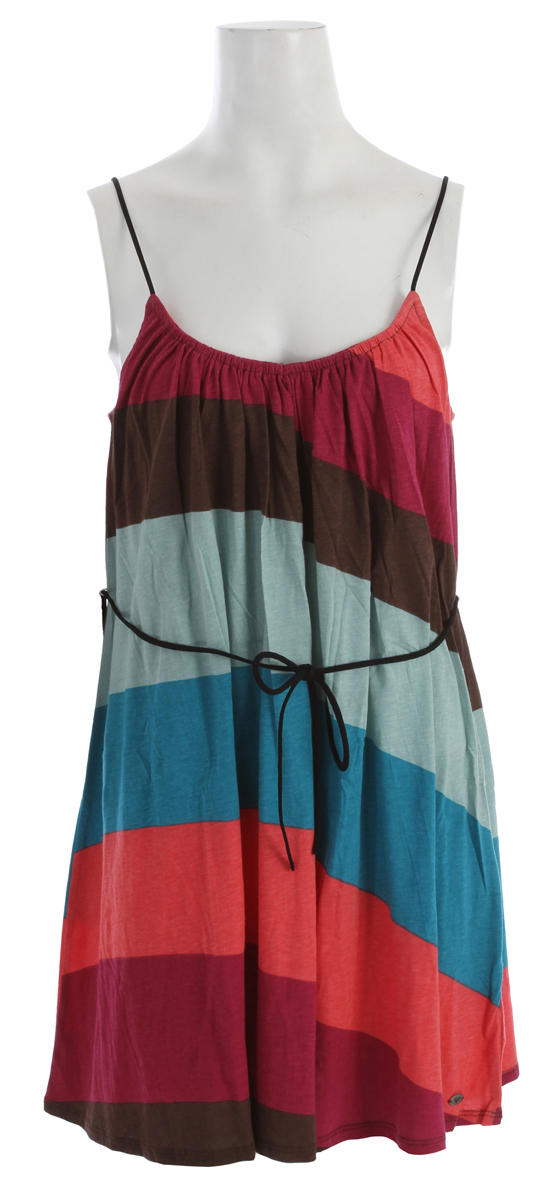 "Surf Key Features of the Roxy Sapphire Dress: 60% Cotton / 40% viscose jersey tank dress with tie and adjustable straps 33""hps - $28.95"
