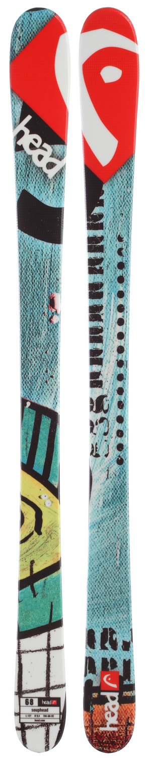Ski Key Features of the Head Souphead Skis: Twintip construction E base black Structured surface Literail Also available w/o Literail (Art. N 314332) Bindings: LRX 4.5 AC Terrain: Groomed slopes Length: 87/97/107/117/127/137 Dimensions: 104/68/92 @ length 127 Radius: 9.4 @ length 127 - $104.95