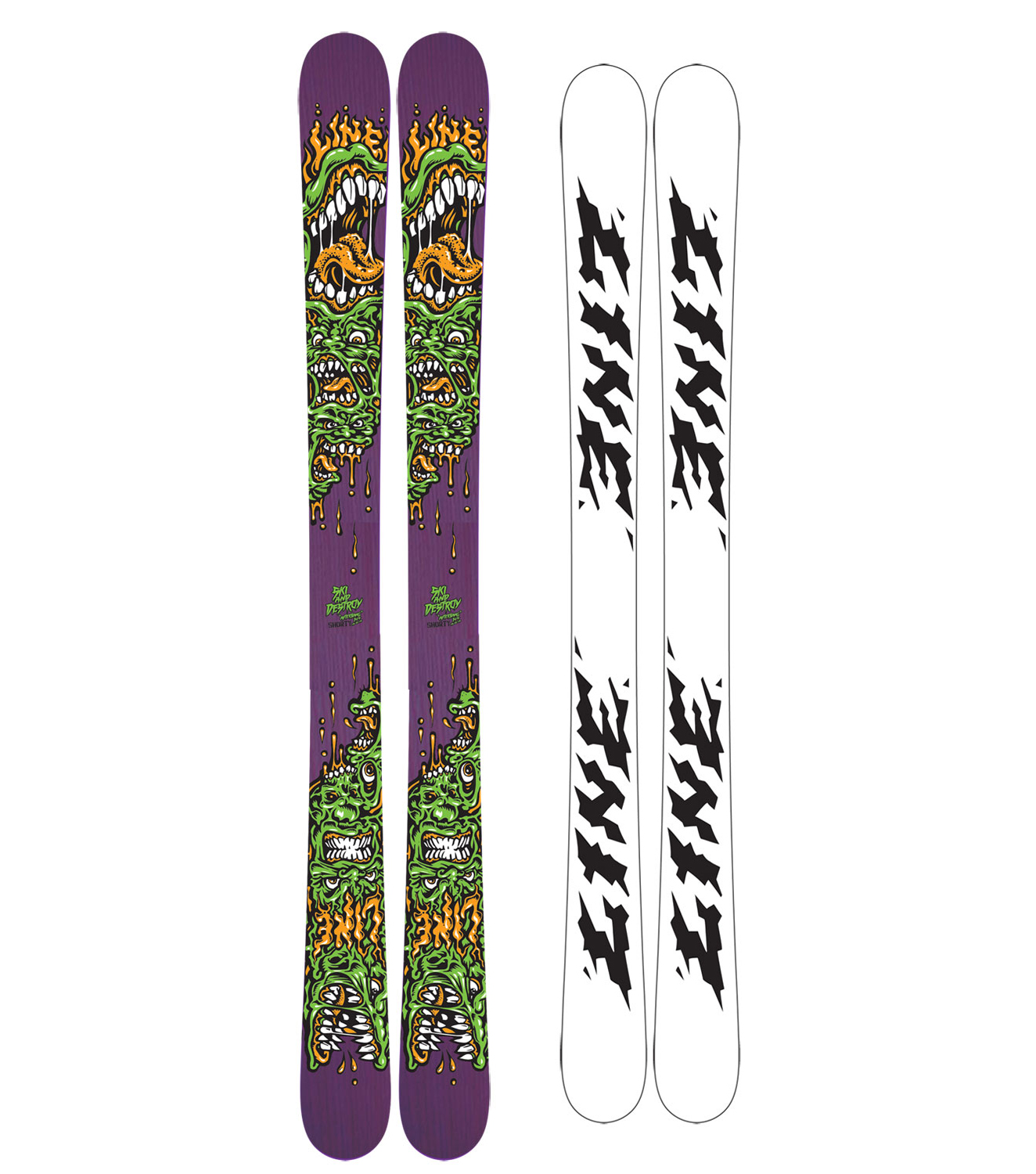 Ski After years of asking, Line has finally designed a high end junior freestyle ski. The 2011 Line Afterbang Shorty Skis is the most advanced junior freestyle ski on the market. With a Maple veneer core this ski will take a lot of abuse with out complaint. The 2010 - 2011 Line Afterbang Short Ski is much like the adult version of the Afterbang but with one less sheet of Maple and no Carbon Ollieband, but do not worry, it has just about the same amount of pop. If you are riding kids skis not designed for the park or adult skis that are too long and expensive, that is because you are an in betweener everyone forgot to make skis for. Now there is a 100% legit, Afterbang construction in your size, with a price to match.Key Features of the Line Afterbang Shorty Skis: Skate Deck Construction 6-ply Maple veneer core Butter Zones Symmetric Flex Symmetric Geometry Fatty Base and Edge Extruded Base Shape: 115/ 88/ 115 Sidecut: 13.5m (144cm) Stance: centered - $109.95