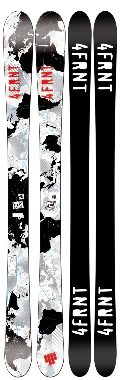 "Ski 4Frnt TNK Skis: ""We revisited my 4-year standing signature model with an improved core profile to accommodate the biggest of parks. Beyond the core, I also incorporated a die cut sintered race base for blasting the pipe. The shape is nearly symmetrical by design thus providing the easiest switch riding ever. Worry not on swing weight, this ski has LITEblock core technology to keep you spinning like a top."" - Niklas Karlstom Key Features of the 4Frnt TNK Skis: ABS deflect sidewall LITEblock core Sintered graphite base Traditional camberKey Features of the 4FRNT TNK Skis: Tip Width (mm):111 Waist Width (mm):73 Tail Width (mm):101 Ability Level: Intermediate - Advanced Core Material: Wood Rocker Type: Camber Tail Type: Full Twin Tip Turning Radius:10m @ 135cm - $159.95"