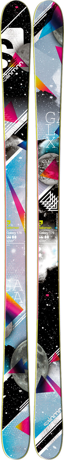 Ski Park and Pipe   All Mountain.Key Features of the Salomon Galaxy Skis:  Sandwich Sidewalls  Full Woodcore  Twintip  Wide edges  Edge armor  Total edge reinforcement  Sidecut: 122/ 86/ 115 (161cm   Radius: 13.0 (151 , 15.1 (161 , 17.3 (171 - $366.95