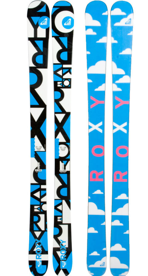 Ski Built for all-terrain attack this do it all twin Roxy Broomstix Ski is all about pop. Light, lively, and stable.Key Features of the Roxy Broomstix Skis: Sidecut: 122-86-110 Turn Raduis: 18 - $359.95