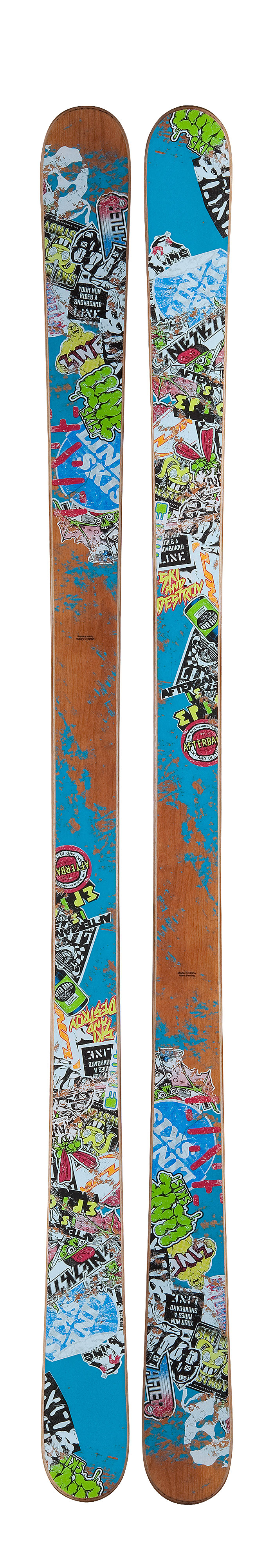 Ski The only ski built like a skateboard The Afterbang is every jibber's #1 choice for creative, buttery, jibtastic good times. Its playful flex pattern provides ninja-like control when buttering & pressing with tons of extra pop for ollieing & nollieing over snowboarders. Backed by a patented skateboard construction for durability, this is the ski that gives our pros and you, the creative advantage no other ski can. Key Features of the Line Afterbang Skis: Skate Deck Butterzones Carbon Ollieband Symmetric Fivecut Fatty Base & Edge Symmetric Flex Shape mm: 115-88-115 Profile mm: 0-4-0 (Tip Early Rise/Camber/Tail Early Rise) Sidecut m: 18.0 Stance mm: 0 (centered) Tip/Tail mm: 52/52 - $349.95