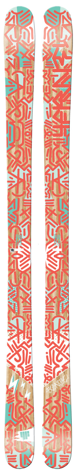 "Ski ""New to the family of park and pipe skis, this women's specific twin is benefitted by the lightweight cap construction and hyper-block core technology. The benefits go on with full wrap edges and a bi-90 weavefor superior pop without the strain of an overly stiff flex."" -4FRNT Product Development TeamKey Features of the 4FRNT Blondie Skis: Hyper Block Woodcore Bi90 Fiberglass X4 Dampening System Glosstop Topsheet ISO-SPORT Extruded Base Artist: Yale Wolf Dimension: 116x84x111 @ 157 Turn Radius: 15 m @ 157 - $187.95"