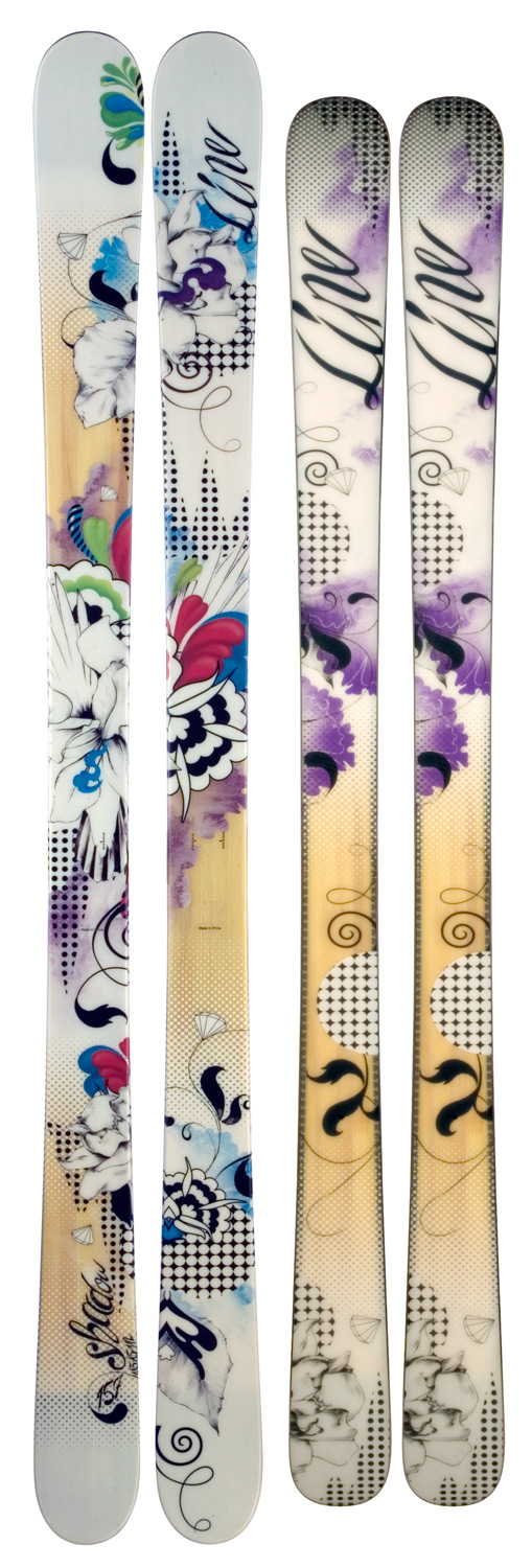Ski Put your skills to the test. If you're looking to show up the boys in the park or anywhere else on the mountain, it's time to drop in on the Shadow. The 2012 Line Shadow skis feature some of our best high-performance all-terrain freestyle ski DNA in a fun, super light and lively, easy to ski construction that's going to enable you to progress further and faster than ever before. Don't stop! Key Features of the Line Shadow Skis: 4D Fibercap Construction Aspen Macroblock Core G-Cut Geometry Symmetric Flex Sintered Fatty Base & Edge - $263.95