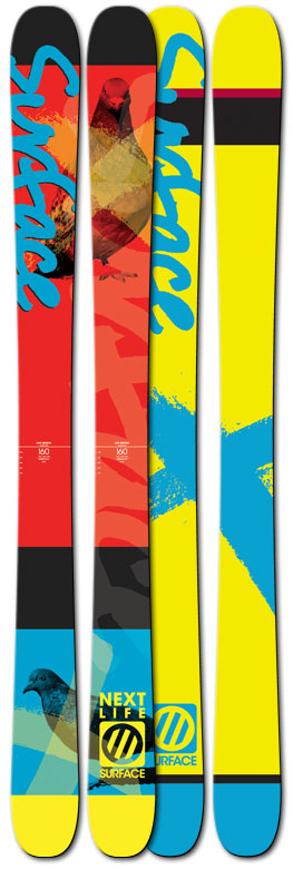 Ski Last season, we were the first ski company in the world to unleash true rocker skis for groms. By true, we mean a ski that is designed and built to perform like an adult rocker ski, just smaller. The Surface Next Life Ski comes equipped with wood cores, sidewall construction and a waist width of 100 mm to ensure the Blake Nyman's of the future can slash, stomp and send it just like their hero's. Never doubt the youth. Key Features of the Surface Next Life Skis: Powder + Kids ski Tip to tail maple poplar wood core. Full wrap edge protection Thick 2.5mm Edge ABS Sidewall Boot center mounting points Extruded Base Binding Reinforcement Surface Hybrid / Early RiseTechnology - $217.56