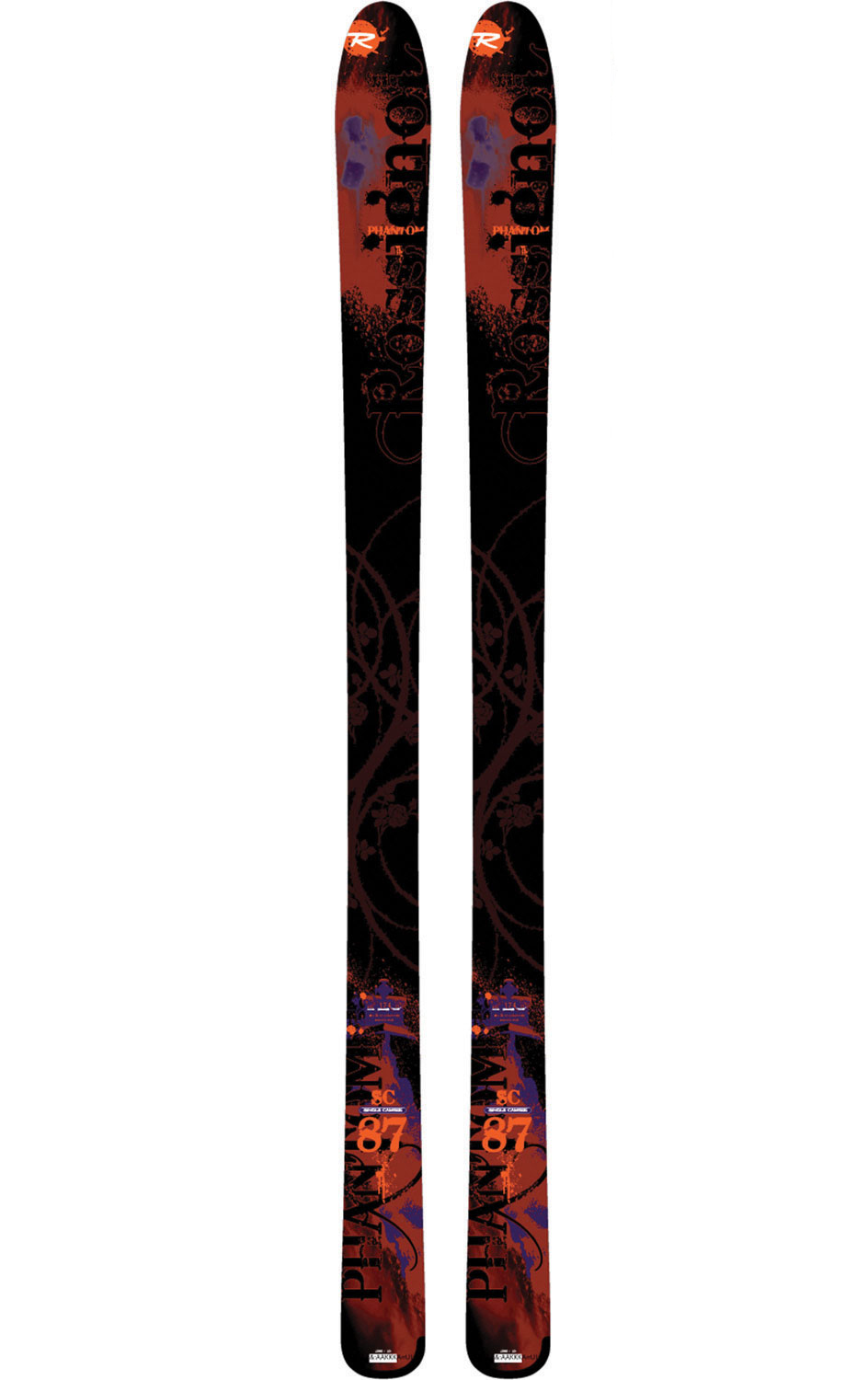 Ski The SC87 arose from overwhelming demand from retailers and consumers seeking the perfect freeride all-mountain ski from Rossignol.  and it has arrived! The SC87 has the heart of a high-performance carving machine with a freeride touch and feel. This all-mountain ski is perfectly balanced for ripping rail-to-rail on the groomers. With its wide waist, it floats through powder and crud with the best of any backcountry ski. With titanium sandwiched around a wood core, this is a good skier's dream-come-true. If you are looking for a rocking, all-mountain freeride ski that shines anywhere on the hill, the SC87 is the right choice for you.Key Features of the Rossignol Phantom SC87 Skis:  60% Off-piste / 40% Piste  Flat: Recommended binding - Freeski; 140 L  SPECIFICATIONS: 154cm: r11.3, sc130/86.5/116  162cm: r12.8, sc130/86.5/116  170cm: r14.3, sc130/86.5/116  178cm: r15.9, sc130/86.5/116  186cm: r17.6, sc130/86.5/116 - $374.95