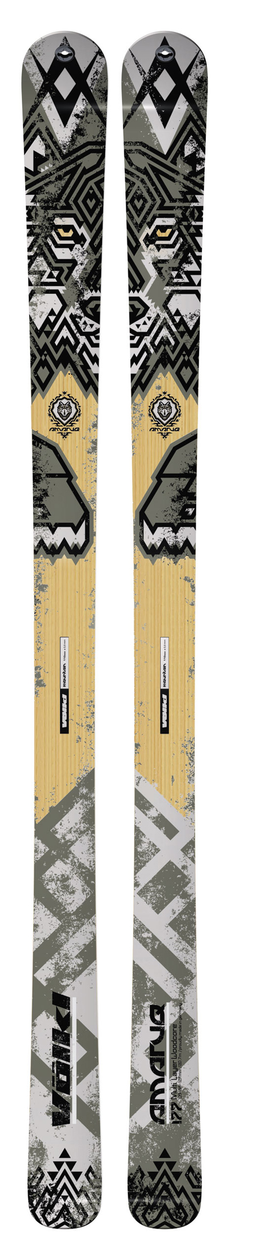Ski A 2011 model for the backcountry, the Amaruq features a shape that is wide enough for most lift-served conditions, yet nimble enough for all day touring.Key Features of the Volkl Amaruq Flat Skis: Sidecut/ Radius: 127/ 88/ 109/ 18.0@163 - $387.95