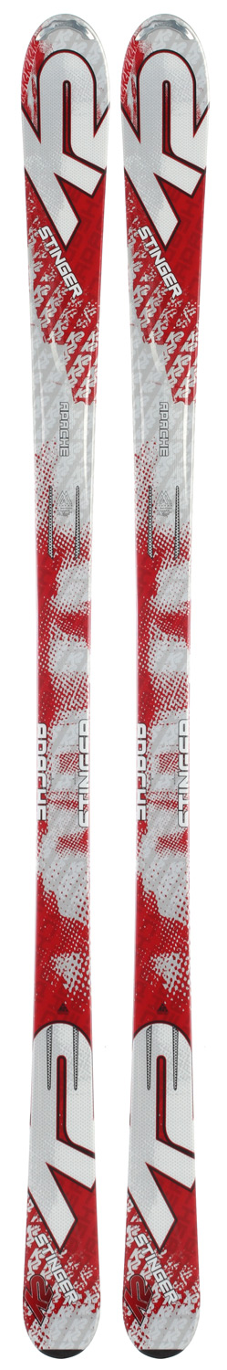 Ski New skiers will admire the performance and value that the Stinger delivers. This ski comes complete with MOD Technology and Torsion Box construction which keep it stable under foot and easy to turn; these qualities help build confident skiers. The Stinger comes from the same chassis as the Force with a traditional camber.Key Features of the K2 Apache Stinger Skis: MOD Technology Performance: Ungroomed 20% Groomed 80% Radius: 14m@170 Construction: Torsion Box Cap Core: Composite - $198.95
