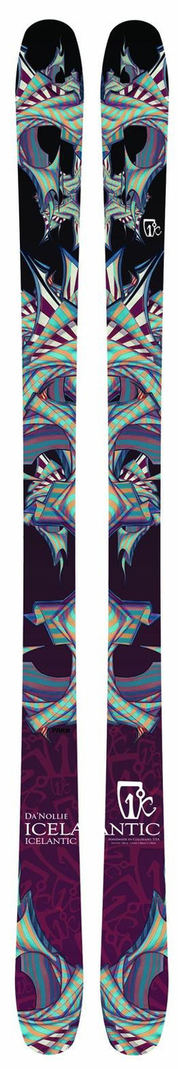 "Ski The Da'Nollie is a park/urban ski for the most progressive of riders. Designed to meet Pro-Athlete Leigh Powis' standards, the 2012- 2013 Da'Nollie contains Icelantic's ""Nollie-Flex Core"". This core profile, enables the rider to Ollie, Nollie and butter the hell out of any feature - as well as stomp whatever hit the park throws at 'em. Combine this with Icelantics proven quality and you have one of the most durable skis for the urban setting. In an age where style points rule supreme, Da'Nollie takes park/urban riding to a whole new dimension.Key Features of the Icelantic Da'Nollie Skis: Length (cm): 160, 170, 180 Dimensions (mm): 118x88x118 Radius (m): 16 (160), 18 (170), 20 (180) Weight: 6.6 (160), 7.4 (170), 8.0 (180) - $432.95"