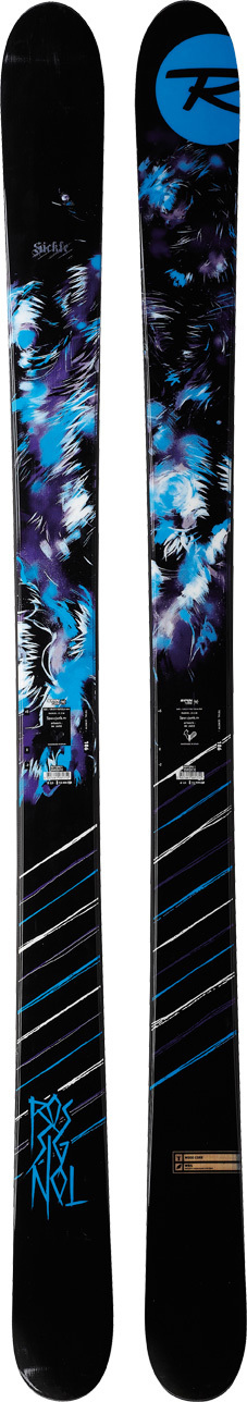 Ski Rossignol's jib skis have ruled parks and pipes around the world as much as any brand over the last 10 years, winning more X Games gold medals than anyone else along the way. Now they feature new rocker technology and new shapes. Whether you ski the park, jib rails, hit backcountry booters or love skiing pow, our team-approved jib skis will exceed your expectations.* Spin Turn Rocker: (Sickle and ScimaTar) 100% full rocker shaped like a banana with no camber underfoot. Makes ski playful, easy to spin, and adds pop, energy, and float in deep powder * Jib Tip: Rounder tip shape and profile is designed for pipe and park transitions and skiing switch. Rubber layer for shock absorption and durability * JAS Jib Absorption System: Rubber layer between sidewall and edge for shock absorption extra thick layer of rubber sandwiched in the tip and tail to absorb landing shocks and increase durability * Extended Sidecut: Sidecut continues beyond contact point where tip and tail rocker start as speeds and edge angles increase more sidecut is engaged for powerful full-length edge grip at lower speeds and edge angles sidecut is less engaged for more maneuverability and ease * Mini Cap: Ultra durable construction built with wood cores, 30 degree sidewalls, fiberglass and high-tech laminates. Mini cap roSSiTop strengthens the top of the ski increasing durability. 30 degrees inclined sidewalls improve swing weight and reduce ski's overall weight, enhancing edging and durability * Structure: Minicap * Core: Wood * Laminates: WRS * Sidecut: 140/ 110/ 133 * Radius: 21.3M @ 186 * Size: 174, 186 * Recommended: Axial; 120 Xxl - $279.95
