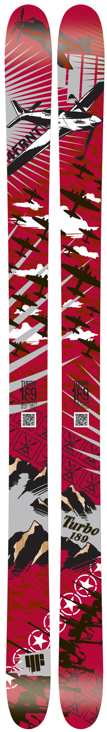 Ski Just because our Identity Series skis don't have a pro's     name on them doesn't mean our team doesn't ride     them. The Identity Series takes proven shapes and designs     and utilizes our highest quality cores and bases. Every     ski in the Identity Series has been influenced by our team     riders, so you know that they will stand the test of time.     You can grab the Turbo, Aretha or Madonna on any day,     anywhere in the world, knowing that you have the right ski     on your feet for that day.  br /  br /     The Turbo is the evolution of the Vincent Dorion brain-child, the VCT. The     Turbo is a true one quiver ski that utilizes Classic Camber coupled with     Early Rise in the tip to give you confidence in variable off-trail conditions,     but still have the stability at speeds on the corduroy.  Sandwich Construction    Hi-Light Core    Sintered Base    Full-wrap Edge    Groomers: 8    Powder: 12    Park:7    Halfpipe: 4    All Mountain: 11    Dimension: 129x104x121 @ 175    Radius: 25.1m @ 175 - $422.95