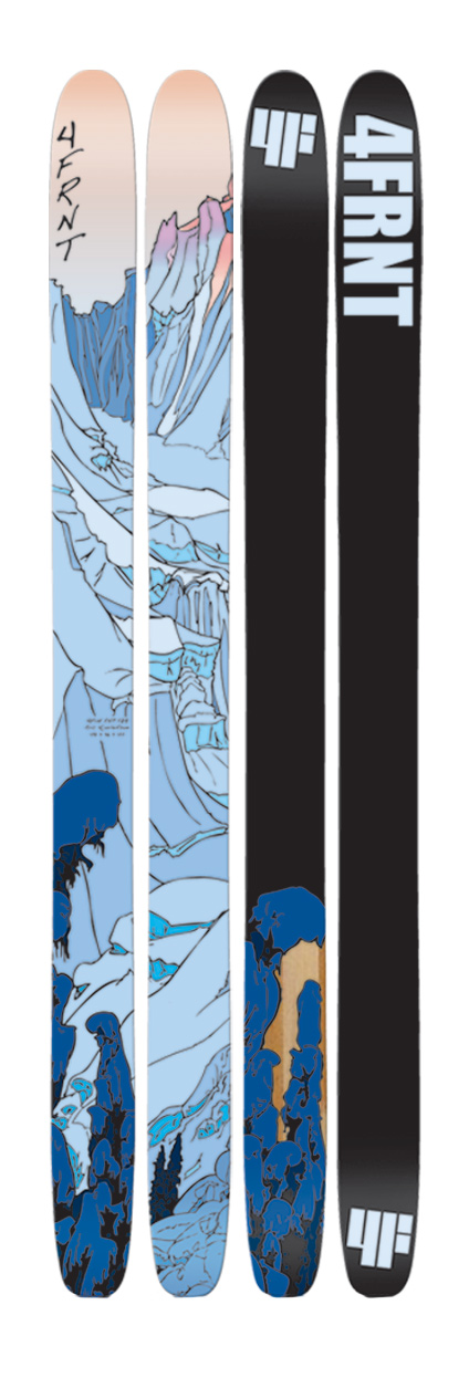"Ski EHP - by Eric Hjorleifson "" This year I completely redesigned the EHP line up, my goal was to create a ski that utilized the reverse camber/side-cut concepts but still incorporated traditional ski design to provide a versatile stable platform on and in all types of snow. Ultimately, I tried to find the perfect blend between traditional ski design and the new technology of reverse camber/side-cut concept skis.    Some of the design improvements are:    The long gradual tip/tail radius/shape give the ski great flotation in powder and enable you to wash, plane and scrub your turns creating a surf like sensation. This long tip/tail shape also give the EHP a shorter running surface making them more responsive and easier to turn on hard snow. Although the tail has a curve radius it was not designed to be a true twin tip, the tail shape was designed to maximize performance in powder snow. The pintail shape sinks into the snow allowing a more forward mounting position giving the ski a much more responsive, centered and balanced feel.Key Features of the 4FRNT EHP Skis:  Megablock woodcore  ABS sidewall  Q 45 Fiberglass  360 Full Wrap Edge  Length (cm : 179  Dimension: 128x116x122 (179   Turn Radius (m : 40 (179 - $406.95"