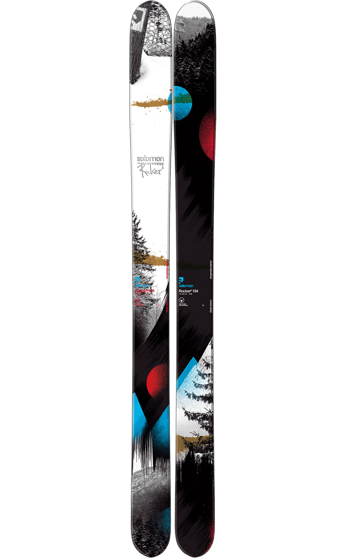 Ski Freeskiers who enjoy powder and fat skis, looking for the latest powder weapon need to check out the Salomon Rocker 2 Skis.Key Features of the Salomon Rocker 2 Skis: Edgy Monocoque Full Woodcore Wide edges Total edge reinforcement Edge Free extremities Honey Comb tip & tail Pulse Pad Powder Rocker Sidecut: 137/115/127 (170), 139/115/129 (180), 142/122/132 (184), 144/122/134 (192) Radius:: 20.3 (170), 20.3 (180), 26.0 (184), 26.0 (192) - $486.95