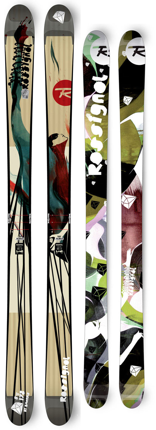 Ski These skis are absolutely amazing. Their shape and cuts give speed, while also giving you full control over your movements. The sidecut is 128/98/121 which is ideal for the skier who is starting out, and the skier who has been skiing for a long time! The design of it is really cool and captivating too. You will definitely be complimented on the style and coolness of the ski. Oh! And the price is almost half off!Key Features of the Rossignol S5 Barras Skis 185: Sidecut: 128/98/121 Radius: 21.3m(185) - $544.95
