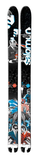 Ski The very best in deep powder performance. The Salomon Rocker Ski is reverse camber hybrid enables superbly buttery turns while also being a solid, stable platform for high-speed power turns and big landings. Key Features of the Salomon Rocker Skis: Monocoque Full Woodcore Edgy Monocoque Flat tail ROCKER Wider edges Total edge reinforcement - $564.95