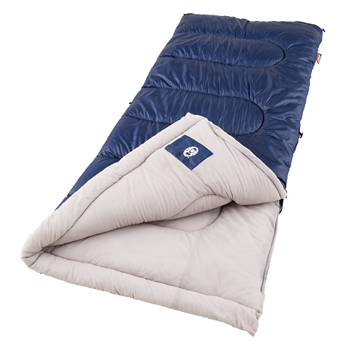 "Camp and Hike Key Features of the Coleman Brazos Cold Weather Sleeping Bag: Coleman cold weather sleeping bags made for camping temperatures between 20 and 40 degrees Rectangle shape, 33"" x 75"", fits up to 5'11"" tall 4 pounds of Coletherm insulation Polyester cover with soft tricot fiber blend liner Essential camping gear, sleeping bag for a better night outdoors Don't forget the Coleman camping tent to go with your sleeping bags Polyester cover with soft tricot fiber blend liner ComfortSmart Technology includes: ZipPlow plows fabric away from zipper to prevent snags ComfortCuff surrounds your face with softness Roll Control locks bag in place for easier rolling FiberLock prevents insulation from shifting, increases durability ZipperGlide tailoring allows smooth zipper operation around the corners QuickCord for easy, no tie closure Commercial Machine washable Five year limited warranty - $34.95"