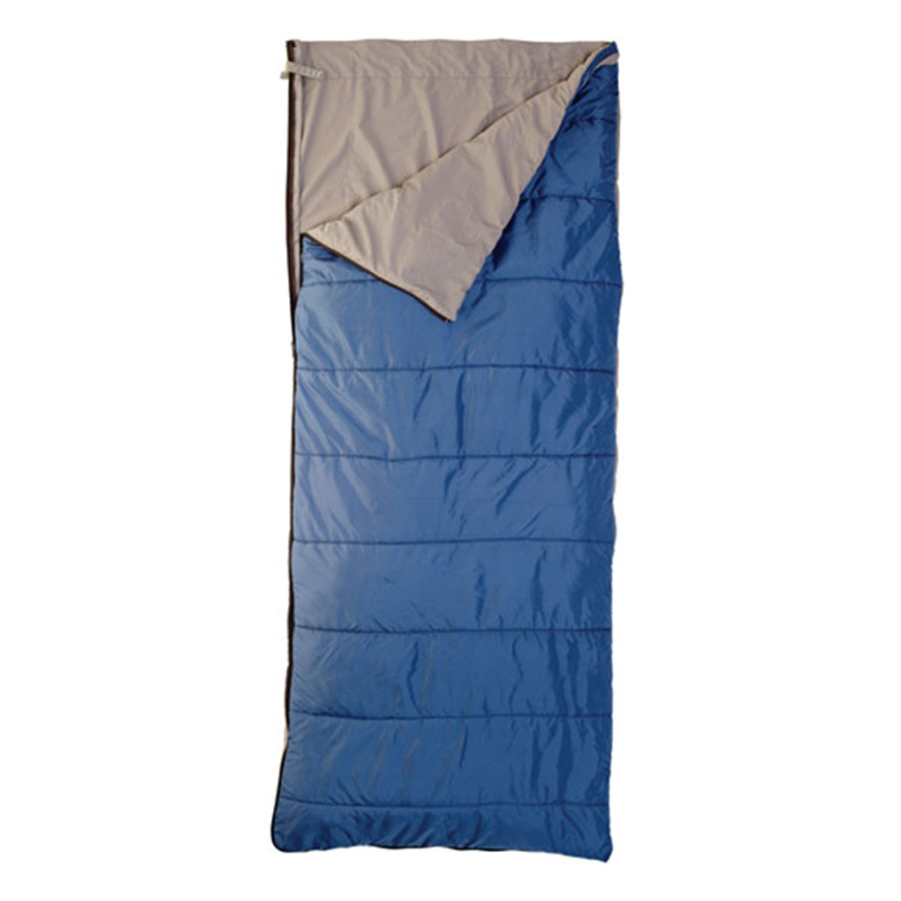"Camp and Hike The Celestial 55degrees is the adaptable, go-to bag for summer when the temperatures fluctuate. The insulation on one side is for cool evenings, and the poly-cotton sheet on the other side is for warmer ones.Key Features of the Kelty Celestial 55 Regular RH Sleeping Bag: Quilt-shell, loose-liner construction Two-way, locking blanket zipper Can be fully unzipped and opened flat for use as a blanket Internal liner loops External snap loops allow bag to function as a liner Sleeping pad security loops Hang loops for storage Stuff sack included FatMan and Ribbon drawcords Captured cordlock Temp Rating: 30degrees / -1degreesC Shape: Rectangular Size Regular: Fits to: 6' / 183 cm Length: 75"" / 191 cm Shoulder girth: 64"" / 163 cm Fill weight: 11 oz. / 0.31 kg Total weight: 2 lbs. 2 oz. / .95 kg Stuffed diameter: 7"" / 18 cm Stuffed length: 15"" / 38 cm Insulation: Cloudloft Shell material: 50D polyester ripstop Liner material: Polyester-cotton - $62.95"