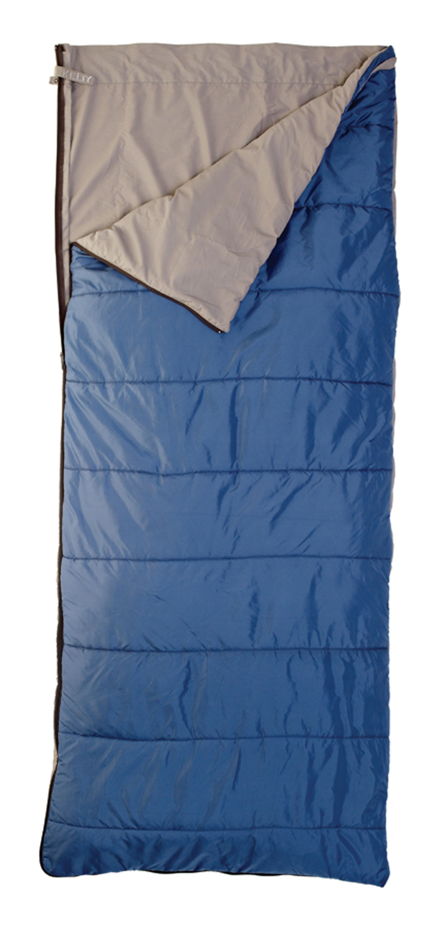 Camp and Hike The Celestial 55 degrees is the adaptable, go-to bag for summer when the temperatures fluctuate. The insulation on one side is for cool evenings, and the poly-cotton sheet on the other side is for warmer ones.Key Features of the Kelty Celestial 55 Degree Regular Sleeping Bag: Quilt-shell, loose-liner construction Two-way, locking blanket zipper Can be fully unzipped and opened flat for use as a blanket Internal liner loops External snap loops allow bag to function as a liner Sleeping pad security loops Hang loops for storage Stuff sack included FatMan and Ribbon drawcords Captured cordlock Fits to: 6ft/ 183cm Length: 75in/ 191cm Shoulder girth: 64in/ 163cm Fill weight: 11oz/ 0.31kg Total weight: 2 lbs 2oz/ .95kg Stuffed diameter: 7in/ 18cm Stuffed length: 15in/ 38cm Temp Rating: 30 degrees/ -1 degreesC Shape: Rectangular Insulation: Cloudloft Shell material: 75D Nylon Diamond ripstop Liner material: Polyester-cotton - $33.95