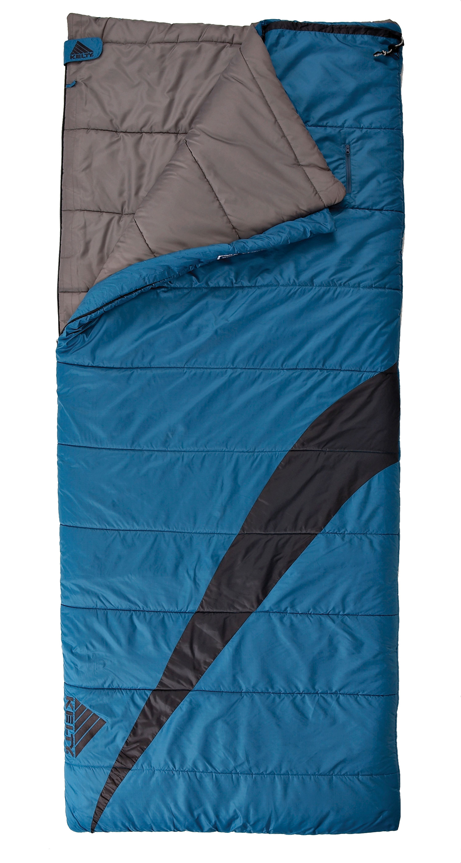 "Camp and Hike The Corona 30 degree is a roomy rectangular sleeping bag for summer adventures. This camping bag is perfect for the value-minded family on the go.Key Features of the Kelty Corona 30 Degree Regular Sleeping Bag: Two-layer, offset-quilt construction Two-way locking blanket zipper Zipper draft tube with anti-snag design Bag can be unzipped and opened flat for use as a blanket Internal liner loops External storage pocket Roll-up straps FatMan and Ribbon drawcords Captured cordlock Differential cut to maximize loft and warmth Comes in a display box Temp Rating: 30 / -1 degree Celcius Shape: Rectangular Fits to 6' 5"" / 196 cm Length: 80"" / 203 cm Shoulder girth: 68"" / 173 cm Fill weight: 50 oz. / 1.4 kg Total weight: 4 lb. 13 oz. / 2.2 kg Stuffed diameter: 14"" / 36 cm Stuffed length: 32"" / 81 cm - $41.97"