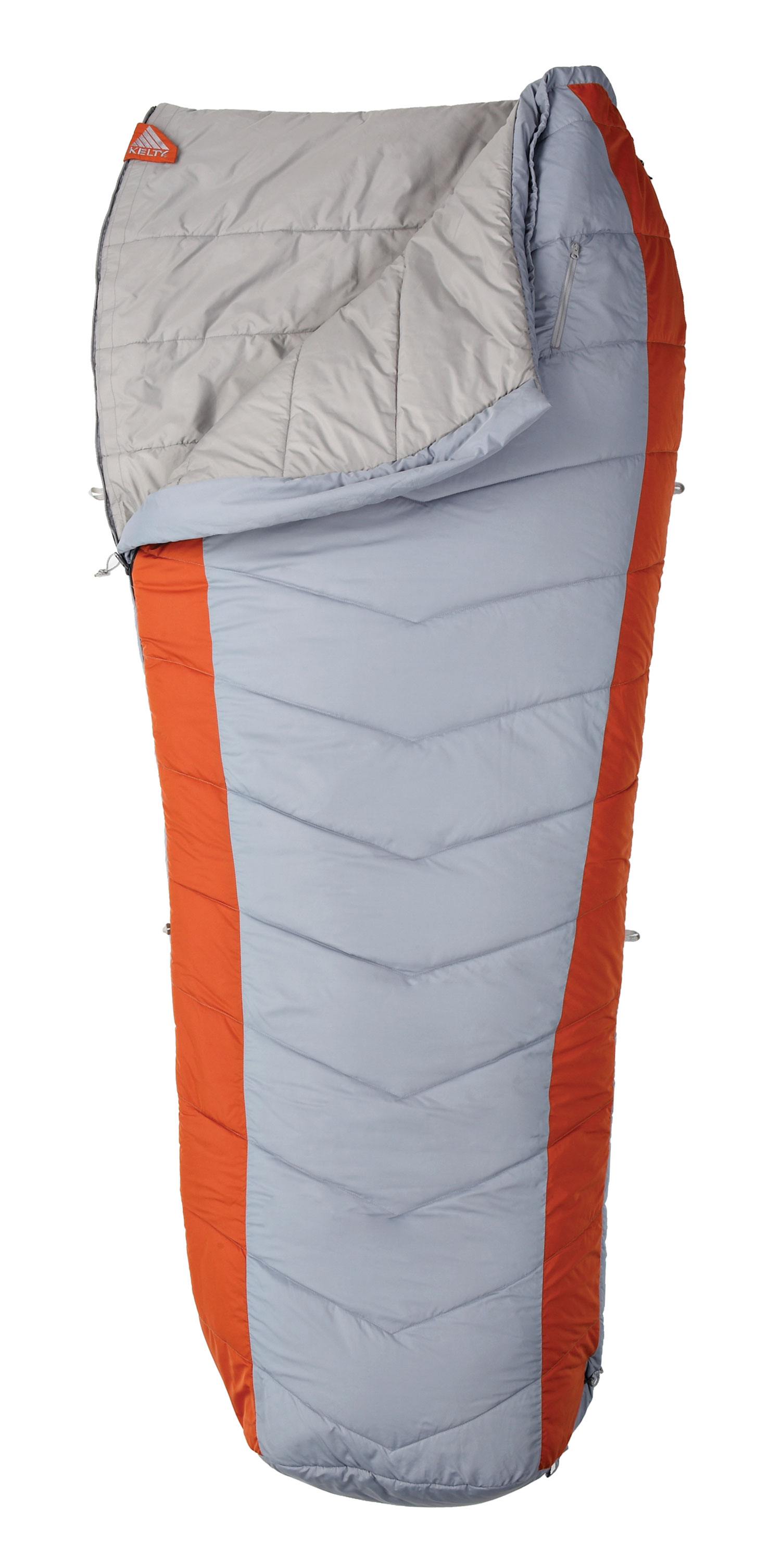 "Camp and Hike For the warm weather camper who wants extra elbow room in a synthetic bag, the semi-rectangular Coromell CP 25degree features insulation throughout, unzips to a blanket, resulting in a no-hassle, comfortable bag that guarantees a good night's sleep.Key Features of the Kelty Coromell Cp 25 Degree Regular Sleeping Bag: Two-layer offset-quilt construction Chevron stitching Two-way locking blanket zipper Zipper draft tube with anti-snag design Bag can be unzipped and opened flat for use as a blanket Convenient chest pocket Internal liner loops Sleeping pad security loops Hang loops for storage Micro FatMan and Ribbon drawcords Micro captured cordlock Ground-level side seams prevent heat from escaping Differential cut to maximize loft and warmth Ultralight compression stuff sack included Storage sack included Fits to 6' / 183 cm Length: 75"" / 191 cm Shoulder girth: 66"" / 168 cm Fill weight: 39 oz. / 1.1 kg Total weight: 3 lb. 15 oz. / 1.8 kg Stuffed diameter: 11"" / 28 cm Stuffed length: 16"" / 41 cm Insulation: Kelty CloudLoft Pro Shell material: 50D polyester diamond cross-dye ripstop Liner material: 50D polyester microfiber pongee - $68.56"