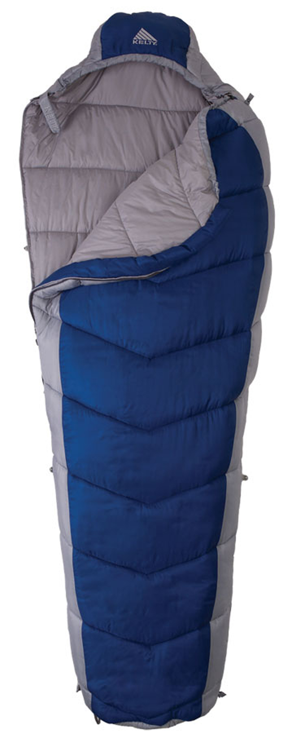 "Camp and Hike The Light Year XP 40 degrees is a summer-weight synthetic bag with a hip-length zipper and zippered foot vent that is perfect for light and fast adventures in unpredictable conditions. Key Features of the Kelty Light Year XP 40 Degree Long Sleeping Bag: Quilt-through construction Chevron stitching Efficient, form-fitting hood Hip-length, two-way locking zipper Zipper draft tube with anti-snag design Zippered foot vent Internal liner loops External snap loops allow bag to function as a liner Sleeping pad security loops Hang loops for storage Micro FatMan and Ribbon drawcords Micro captured cordlock Ground-level side seams prevent heat from escaping Differential cut to maximize loft and warmth Ultralight compression stuff sack included Storage sack included Temp Rating: 40 degrees/ 4 degrees C Shape: Mummy Fits to 6'6""/ 198cm Length: 86""/ 218cm Shoulder girth: 64""/ 163cm Fill weight: 20 oz/ 0.6kg Total weight: 2 lb 6 oz/ 1.1kg Stuffed diameter: 9""/ 23cm Stuffed length: 16""/ 41cm Insulation: Climashield XP Shell material: 30D polyester diamond cross-dye ripstop Liner material: 50D polyester microfiber pongee - $57.95"