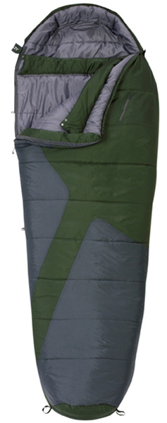 "Camp and Hike The Mistral 0 is ideal for budget-conscious campers seeking a lot of value. It is loaded with comfort-oriented features such as a pillow pocket (that fits the Kelty Camp Pillow perfectly!  and a conveniently positioned zippered chest pocket.Key Features of the Kelty Mistral 0 Sleeping Bag: Two-layer off-set quilt construction Full baffle collar Two-way, locking blanket zipper Zipper draft tube with anti-snag design Can be fully unzipped and opened flat for use as a blanket Internal liner loops Sleeping pad security loops Hang loops for storage Ground-level side seams and differential cut for maximum warmth Stuff sack included Pillow pocket FatMan and Ribbon drawcords Captured cordlock Zippered chest pocket Temp Rating: 0 degree / -18 degreeC Shape: Mummy Size Regular Fits to: 6' / 183 cm                                    Length: 80"" / 203 cm Shoulder girth: 64"" / 163 cm Fill weight: 53 oz. / 1.48 kg Total weight: 5 lb. 1 oz. / 2.27 kg Stuffed diameter: 12"" / 30 cm Stuffed length: 22"" / 56 cm - $74.95"