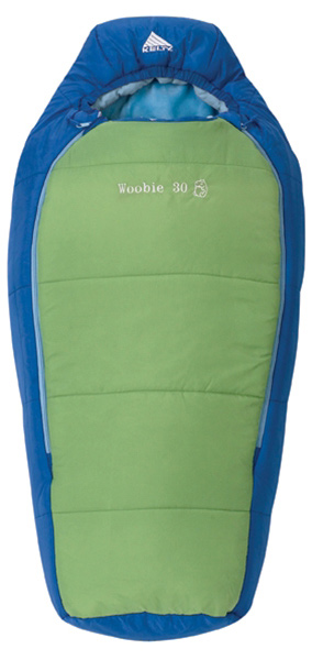 "Camp and Hike Designed specifically for your little one, this sleeping bag will keep your child snuggled up and snuggled in on your next camping trip. With two-layer off-set quilt construction and top draft tube, your child will stay warm all night long.Key Features of the Kelty Woobie 30 Sleeping Bag: Two-layer off-set quilt construction Top baffle collar Zipper draft tube with anti-snag design Dual-sided locking zips aid in temperature control Playful colors and patterned liner Stuff sack included Temp Rating: 30 degreeF Shape: Mummy Size Junior Fits to: 3' / 91 cm Length: 42"" / 107 cm Shoulder girth: 44"" / 112 cm Fill weight: 15 oz. / .42 kg Total weight: 2 lb. 0 oz. / .9 kg Stuffed diameter: 8"" / 20 cm Stuffed length: 15"" / 38 cm Insulation: Cloudloft Shell material: 66D polyester taffeta Liner material: Plush polyester fleece and cotton flannel - $54.95"