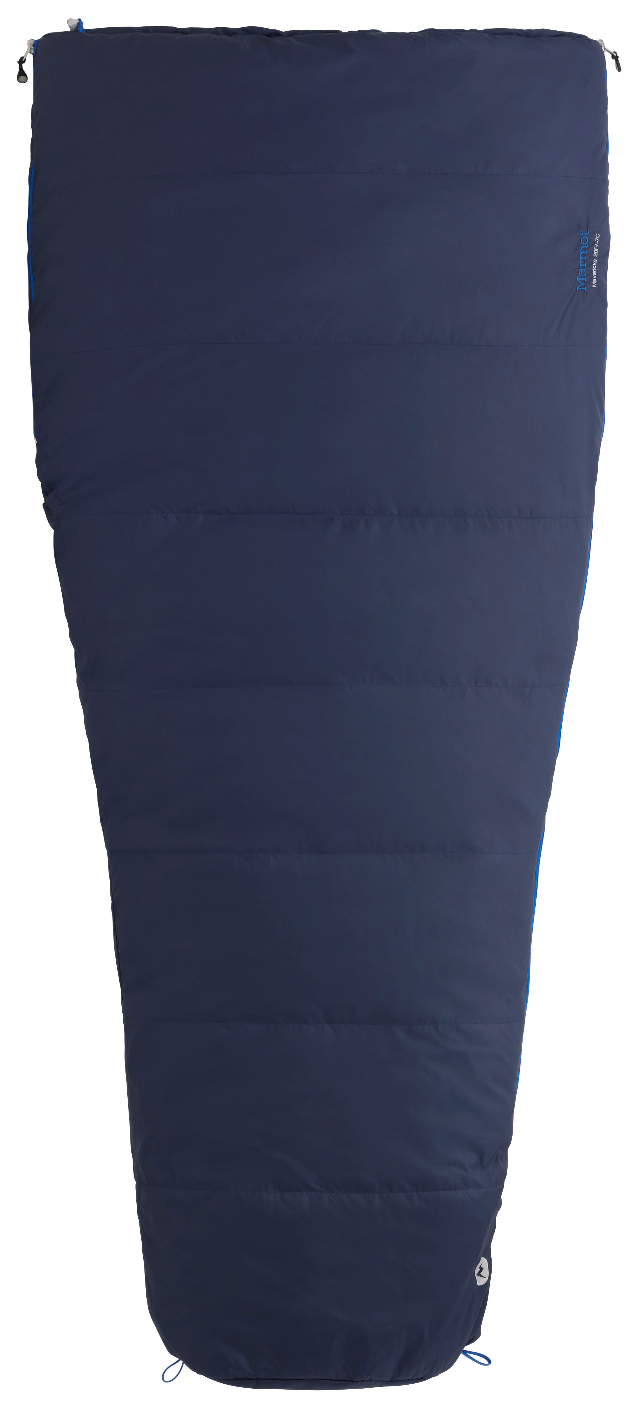 "Camp and Hike Key Features of the Marmot Maverick 20 Semi Rec Sleeping Bag: Rated at 30 degrees Weight: 3lb 8oz Size: Regular 6ft Spirafill 120 100% Polyester embossed DWR 2.2 oz 100% polyester taffeta DWR 2.2oz SpiraFil High Loft Insulation Dual zippers Compression stuff sack ""Feely"" draw cords Shingle construction Snagless draft tube Two way zipper sliders Brushed lining in chest and foot box Two hang loops - $84.95"