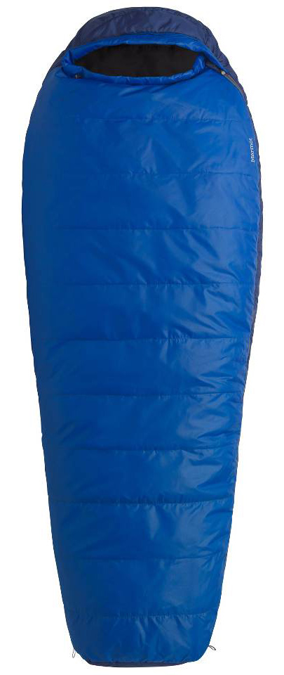 "Entertainment Key Features of the Marmot Rockaway 20 Long Sleeping Bag Right: Weight 3lbs 13oz (1729g) Sizes Reg: 6'0"" Right Zip Insulation Spirafil 120 Materials 100% Polyester Tafffeta DWR 2.2 oz/yd 100% Polyester Embossed DWR 2.2 oz/yd Lining 100% Polyester Tafffeta DWR 2.2 oz/yd EN Tested comfort - 33.6 degreeF / 0.9 degreeC lower limit - 23.4 degreeF / -4.8 degreeC extreme -7.4 degreeF / -21.9 degreeC SpiraFil High Loft Insulation Shingle Insulation Construction Snagless Draft Tube Velcro-free Face Muff ""Feely"" Draw Cords Classic Trapezoidal Foot Box Two Hang Loops Compression Stuff Sack Two Way Zipper Sliders Zipper Garage - $122.95"