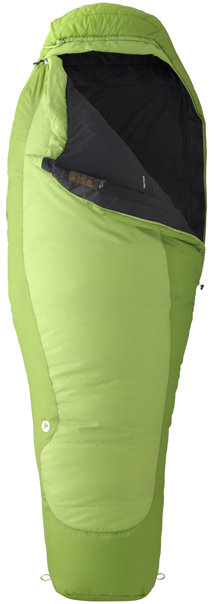 "Camp and Hike Key Features of the Marmot Trestles 30 Sleeping Bag Rht: Weight 3lbs 0.7oz (1381g) Sizes Reg: 5'6"" Long: 5'10"" Insulation Spirafil 120 Materials 100% Polyester DWR 2.2 oz/yd 100% Polyester Embossed DWR 2.2 oz/yd Lining 100% Polyester Tafffeta DWR 2.2 oz/yd EN Tested SpiraFil High Loft Insulation Dual Zippers Women's Specific Fit - More Insulation in Key Areas. Wave Construction Classic Trapezoidal Foot Box Compression Stuff Sack ""Feely"" Draw Cords Hood Draw Cord Second Side Zip Snagless Draft Tube Stash Pocket Two Hang Loops Two Way Zipper Sliders Velcro-free Face Muff Zipper Guards Updated EN 13537 Rating - $84.95"
