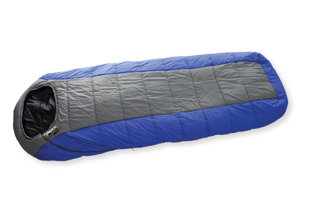 "Camp and Hike Mountainsmith brings its 30  year heritage in the outdoors back to the sleeping bag category. Our Boreas 40 Degree synthetic bag features a relaxed hooded rectangular camp style (fits to 6'6"" with shoulder girth up to 68""  and accommodates a host of features guaranteeing a sound night's sleep. Add in the value of our Poly compression stuffsack (stuffs down to 16""x9""  and this bag cannot be beat.Key Features of the Mountainsmith Boreas 40 Sleeping Bag: Relaxed hooded rectangular style Right hand zip Offset quilt construction Anti-snag zipper reinforcement Compression stuff sack included Temp rating: 40F / 4.5C Shoulder girth: 68 inches Stuffed dimensions:16 x 9 inches Zips out flat for blanket style if needed Mountainloft Hollowfibers - 0.68 kg fillweight Shell: 75dx240t Diamond Poly Ripstop W/R, CIRE Liner: 50dx290t Taffeta Poly W/R, CIRE Dimensions: 5'' x 82'' x 34'' Weight: 3 lbs 5 oz Fit Range up to 6' 6''  Compact/Extended Dimensions 16'' x 9'' - $65.95"