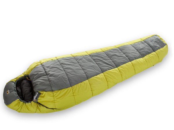 "Camp and Hike Mountainsmith brings its 30+ year heritage in the outdoors back to the sleeping bag category. Our Poncha 35 Degree synthetic bag features a relaxed mummy fit (fits to 6'4"" with shoulder girth up to 65"") and accommodates a host of features guaranteeing a sound night's sleep. Add in the value of our cotton storage sack and sil-nylon compression stuffsack (stuffs down to 14"" x 9"") and this bag cannot be beat. Awarded ""2011 Backpacker Gear Guide - KILLER DEAL!""Key Features of the Mountainsmith Poncha 35 Sleeping Bag: Relax mummy shape Offset quilt construction Right-hand zipper Form-fitting adjustable hood Calf-length, two-way locking zipper Full length draft tube Anti-snag zipper reinforcement Contoured footbox External hang loops for drying or pad lashing Differential cut for optimal loft and anti-migration Compression stuff sack included Cotton storage sack included YKK 2 Way Autolock Zippers 33d x 244T Sil-Nylon RipStop Stuffsack 75D x 240T Diamond Poly Ripstop, W/R, CIRE 50d x 290T Taffeta Poly Liner W/R, CIRE MountainLoft Hollowfibers: 0.63 kg Dimensions: 10 x 82"" x 32.5"" Weight: 2 lbs 14 oz Fit Range up to 6' 4"" - $74.95"