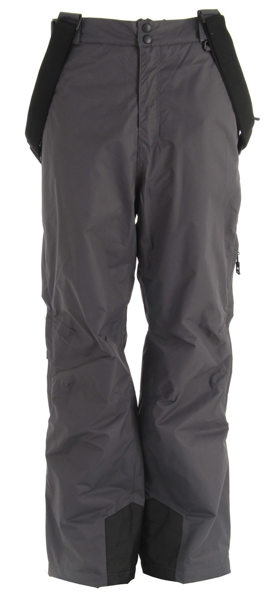 Snowboard Padded ski pants with 4 zip pockets and detachable braces.Key Features of the Trespass Bezzy Snow Pants: 5,000mm Waterproof Windproof Taped seams 100% Polyamide PU coating Insulated 4 zip pockets Detachable suspenders Side waist adjusters Side leg ventilation zips Kick patches Ankle gaiters Articulated knee darts Traditional fit - $63.95