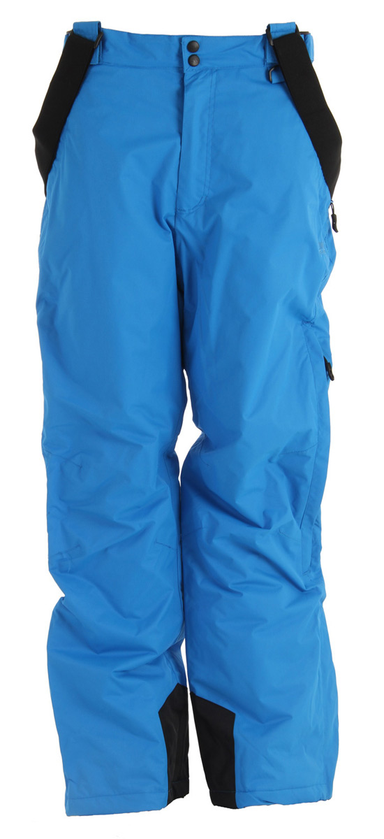 Snowboard Key Features of the Trespass Bezzy Snowboard Pants: 5,000mm Waterproof Windproof Taped seams 100% Polyamide PU coating Insulated 4 zip pockets Detachable suspenders Side waist adjusters Side leg ventilation zips Kick patches Ankle gaiters Articulated knee darts Traditional fit - $63.95