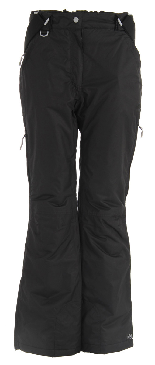 Snowboard Key Features of the Trespass Lohan Snowboard Pants: 5,000mm Waterproof Windproof Taped seams Insulated 4 zip pockets Detachable suspenders Side waist adjusters Side leg ventilation zips Kick patches Ankle gaiters Articulated knee darts 100% polyester - $63.95