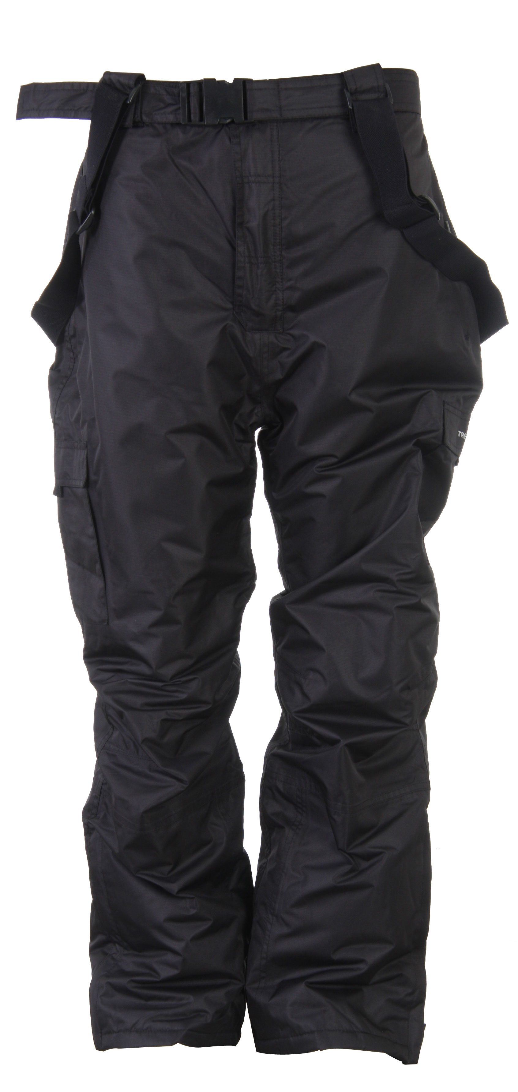 Ski These Men's Trespass Snowboard Pants will keep you warm while skiing and they will protect you from the elements. Not only are they fashionable; they are also extremely versatile. They feature 3 zip pockets and well as 2 patch pockets and have a detachable braces belt. You'll be comfortable all day long in these pants due to their elasticized back which will keep you feeling free and comfortable. Windproof and waterproof, these pants will keep you dry and warm while you're shredding the hills.Key Features of the Trespass Seige Plus Ski Pants: 5,000mm Waterproof Insulated 3 zip pockets 2 patch pockets Detachable braces belt Side leg ankle zip with facing Articulated knee darts Elasticized back Windproof Taped seams - $44.95