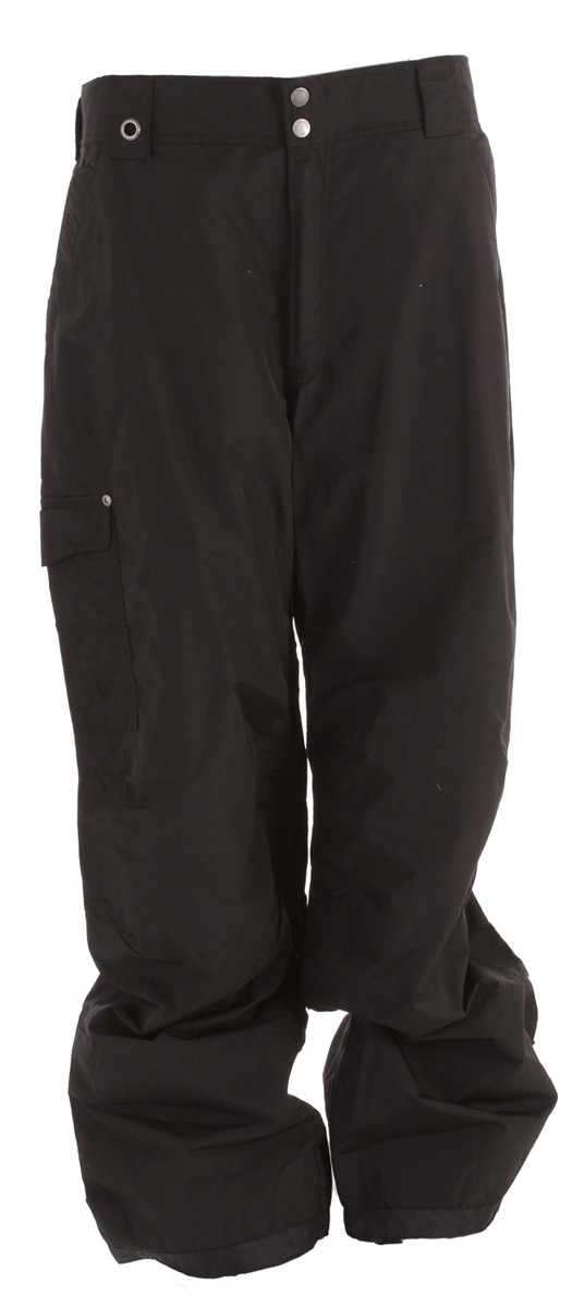 "Snowboard Key Features of the White Sierra Bilko II Snowboard Pants: 100% nylon taslon woven Waterproof/breathable fabric Inner leg vents Partial elastic waist Hook and loop secure pockets Articulated knees Reinforced scuff guard Gaiters with gripper elastic Inseam: 32"" - $30.95"