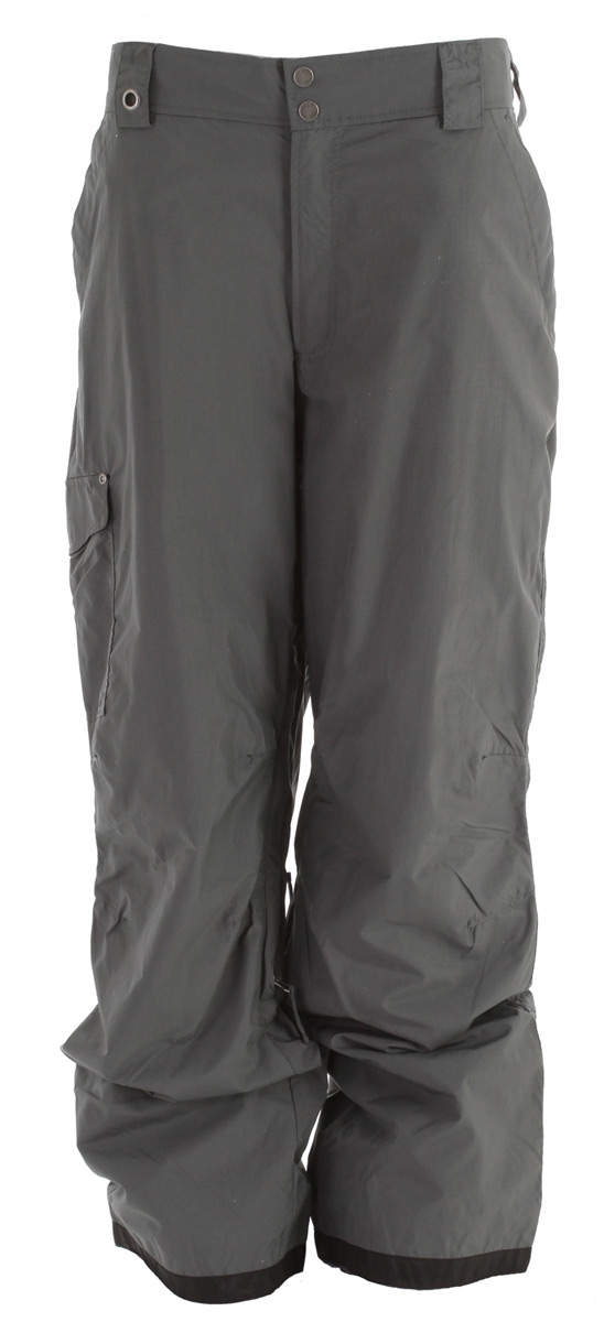"Snowboard Key Features of the White Sierra Bilko II Snowboard Pants: 100% nylon taslon woven Waterproof/breathable fabric Inner leg vents Partial elastic waist Hook and loop secure pockets Articulated knees Reinforced scuff guard Gaiters with gripper elastic Inseam: 32"" - $38.95"
