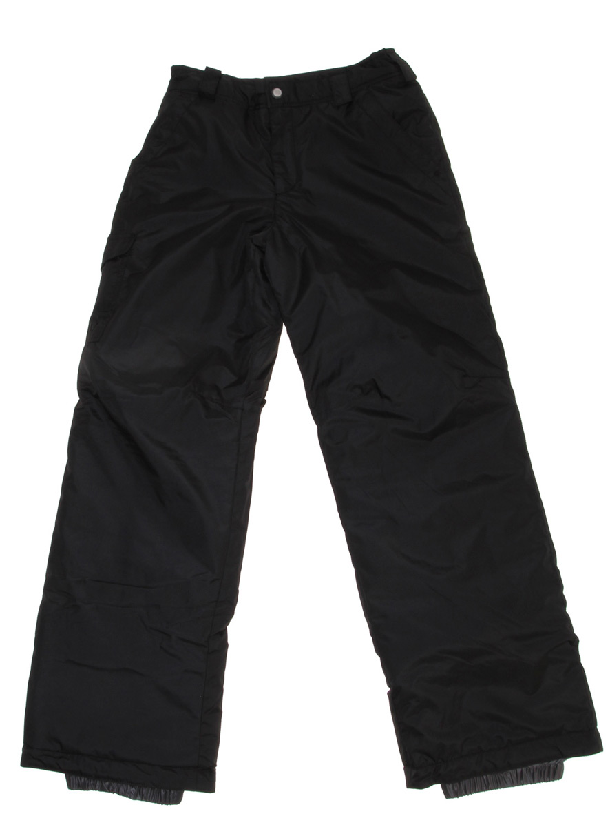 Snowboard Key Features of the White Sierra Bilko Snowboard Pants: 100% polyester woven Waterproof/breathable fabric Polyfill insulated - 3 oz Partial elastic waist Hook and loop secure pockets Articulated knees Reinforced scuff guard Gaiters with gripper elastic - $32.95