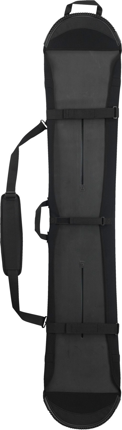 Snowboard Low-profile and transport-friendly with stretch neoprene to accommodate a board of any shape or size. Cush shoulder strap and hidden backpack straps give you carrying options.Key Features of the Burton Board Sleeve Snowboard Bag: Fabrication: Neoprene Neoprene Stretch Construction Removable, Double-Cush Shoulder Strap Stealth Backpack Straps Ideal for Train and Road Trip Travel 2 lbs. - $69.95