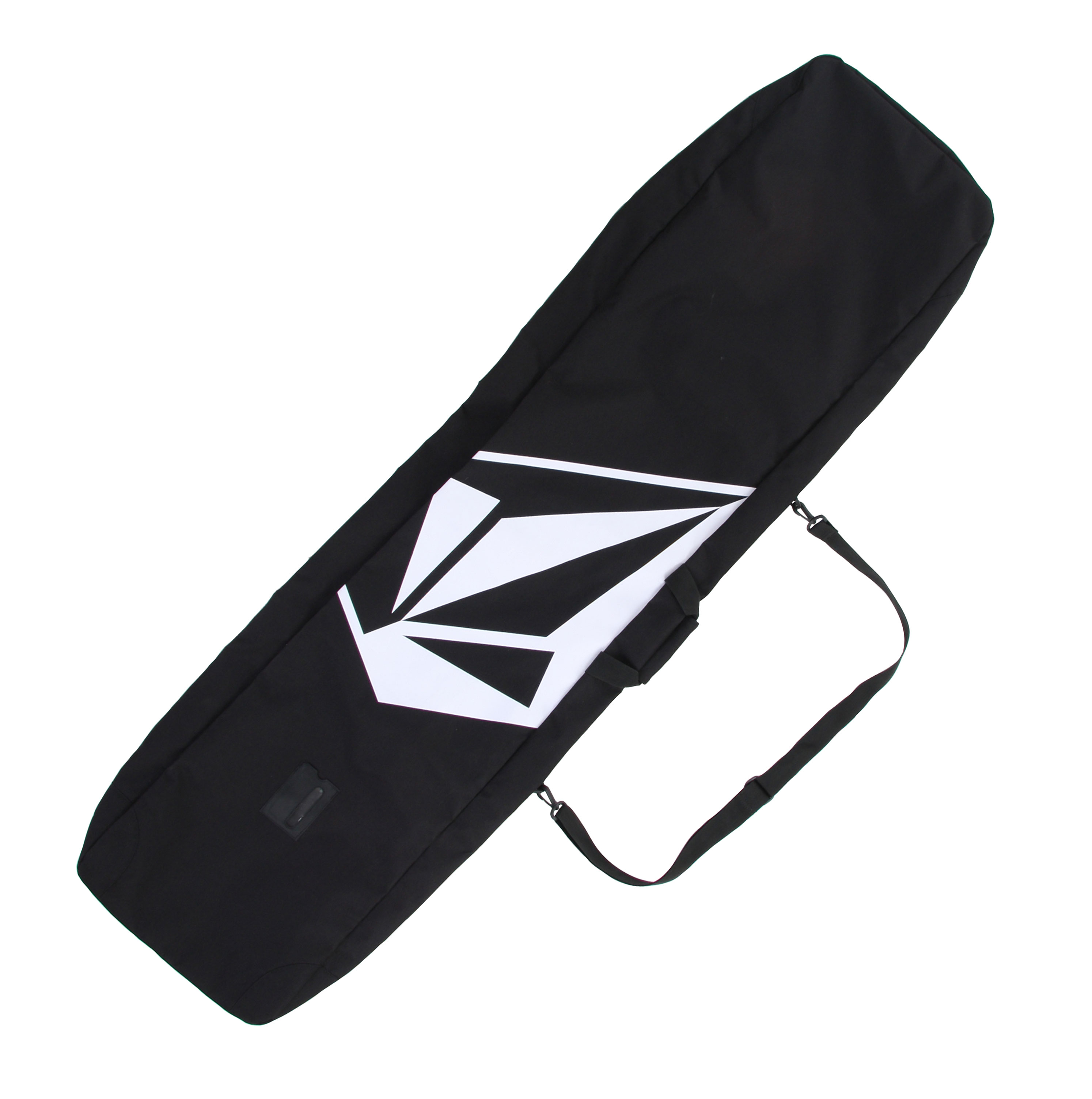 Snowboard You'll find no complaints with Volcom's SMU Snowboard Bag 165. With its spacious interior, you'll find room for your board, boots, bindings and a set of clothes. True to the Volcom name, the Volcom Stone logo is blasted on the bag to ensure that you're carrying your gear in style. Consider this the snowboard bag that ever snowboarder needs to have. Whether you opt to use the removable shoulder strap or not, enjoy carrying your board back to your car in half the time with very little effort.Key Features of the Volcom SMU Snowboard Bag: Heavy-duty Secure Zipper Closure Top Padded Webbing Handle Removable Shoulder Strap Outer ID Pocket/Window - $39.95
