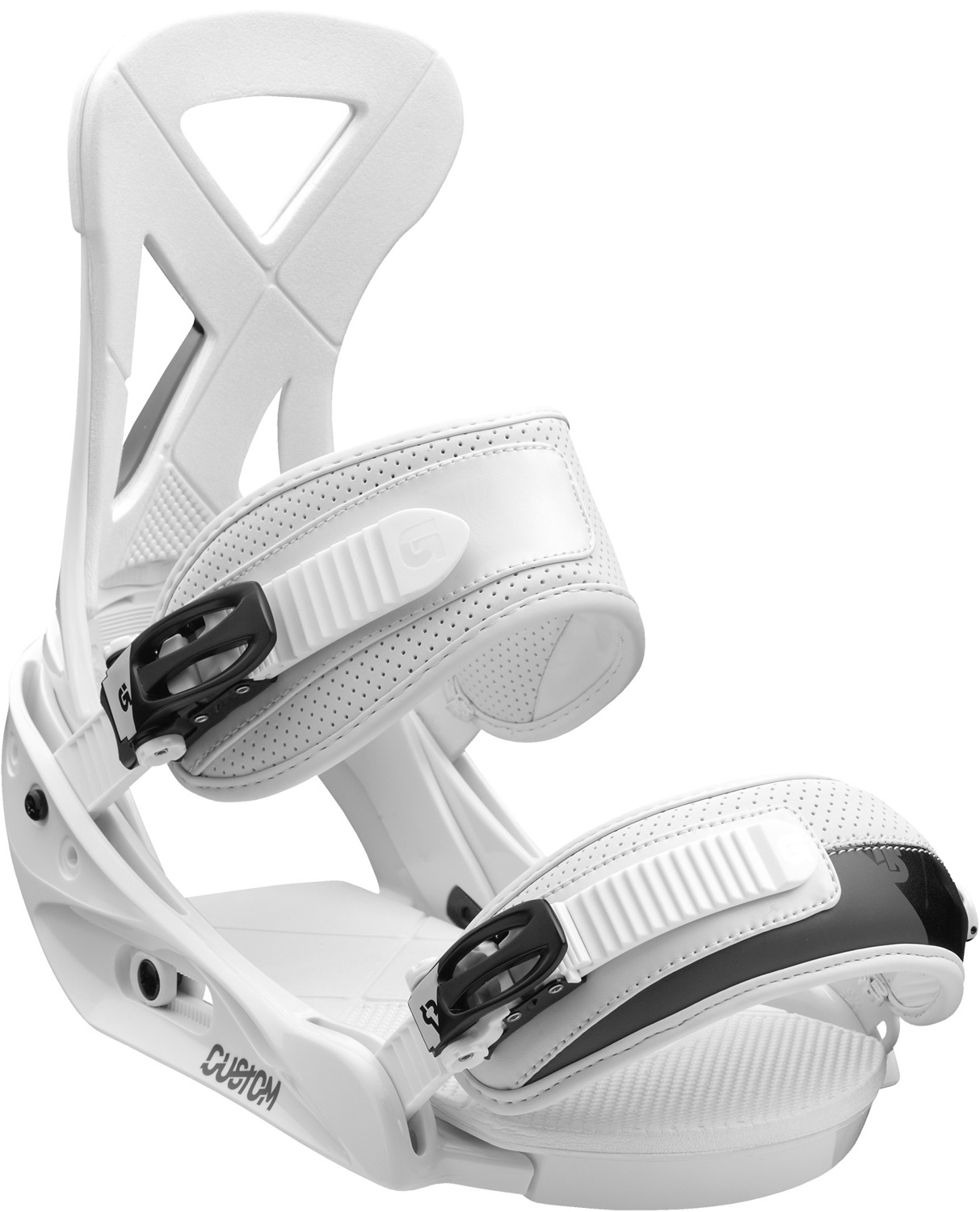 Snowboard Surfy, playful, and capable. The tried-and-true champion.Key Features of the Burton Custom Snowboard Bindings:  Response: 4  Baseplate: Single-Component Lightweight, Bomb-Proof Polycarbonate EST  Hi-Back: Single-Component Canted Living Hinge Hi-Back with DialFLAD  Straps: Lushstrap and Primo Capstrap  Buckles: Smooth Glide Buckles  Cushioning: Removable ShredBED 2.0 Cushioning System - $118.95