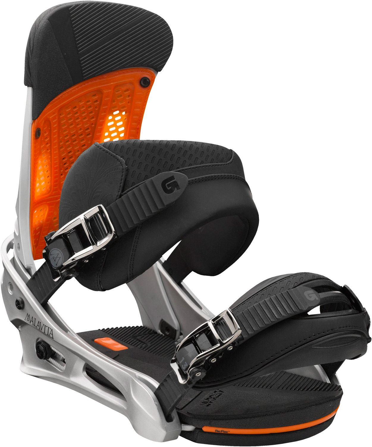 Snowboard Pillage, plunder, punish...you get the drift.Key Features of the Burton Malavita Snowboard Bindings: Response: 6 Baseplate: NEW Single-Component 30% Short-Glass/Nylon Composite Re:Flex™ Hi-Back: Canted living Hinge™ Zero-lean Hi-Back with DialFlAD™ and Heel Hammock Straps: NEW Asym React Strap and Gettagrip Capstrap™ Buckles: Dual-Component Smooth Glide™ Buckles Cushioning: NEW Re:Flex AutoCANT FullBED Cushioning System with B3 Gel Features Re-Ground Materials in Baseplate and Hi-Back to Reduce Waste - $194.95