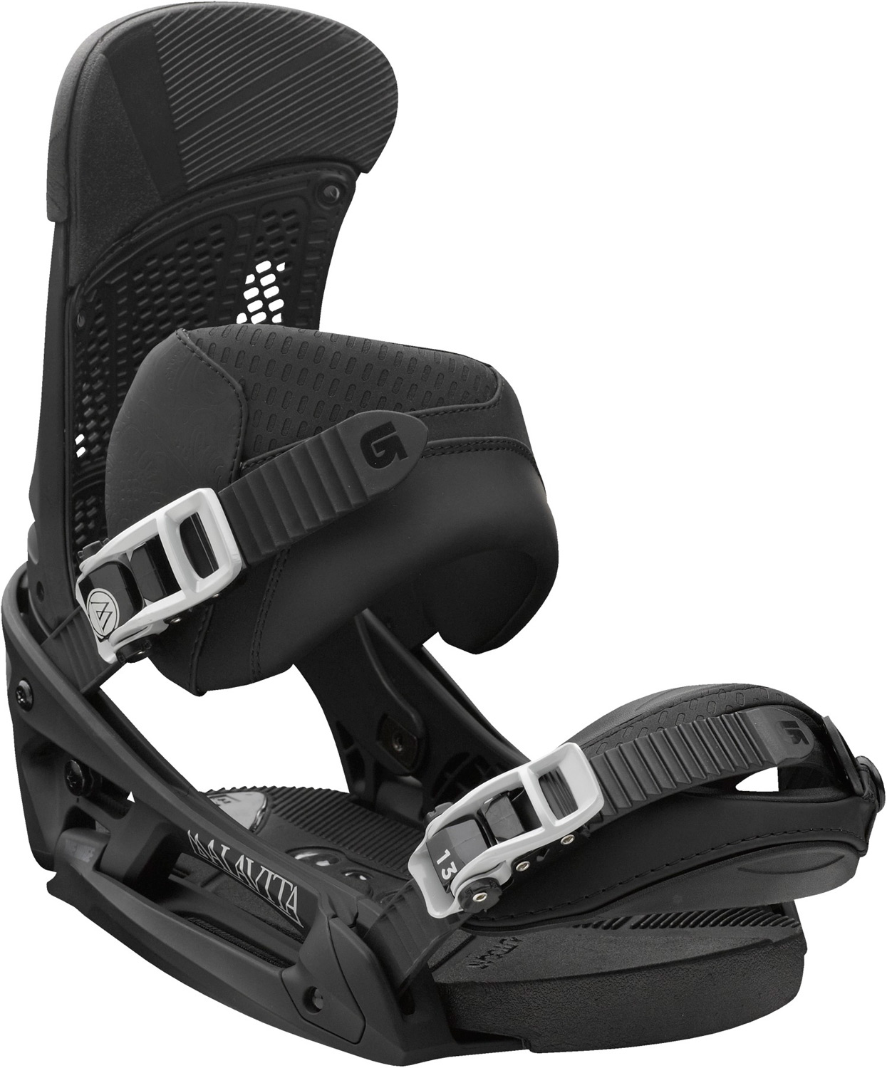 Snowboard Soft-flexing freestyle with a mean demeanor.Key Features of the Burton Malavita EST Snowboard Bindings: Response: 6 Baseplate: Dual-Component EST Featuring The Hinge with 30% Short- Glass/Nylon Composite Spar and 30% Short-Glass/Nylon Composite Lower Hi-Back: Canted Living Hinge Zero-Lean Hi-Back with DialFLAD and Heel Hammock Straps: NEW Asym React Strap and Gettagrip Capstrap Buckles: Dual-Component Smooth Glide Buckles Cushioning: Removable AutoCANT SensoryBED Cushioning System with B3 Gel Rides Exclusively with Burton Boards Featuring The Channel Features Re-Ground Materials in Baseplate and Hi-Back to Reduce Waste - $202.95