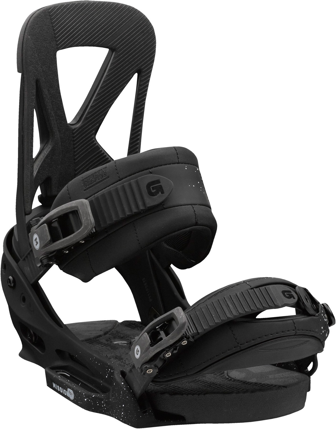 Snowboard A million pairs later.Key Features of the Burton Mission EST Snowboard Bindings: Response: 6 Baseplate: Single-Component 30% Short-Glass/Nylon Composite EST Hi-Back: NEW Single-Component Canted Living Hinge Zero-Lean Hi-Back with DialFLAD Straps: Superstrap and Gettagrip Capstrap Buckles: Smooth Glide Buckles Cushioning: Removable SensoryBED Cushioning System Rides Exclusively with Burton Boards Featuring The Channel Features Re-Ground Materials in Hi-Back to Reduce Waste - $153.95