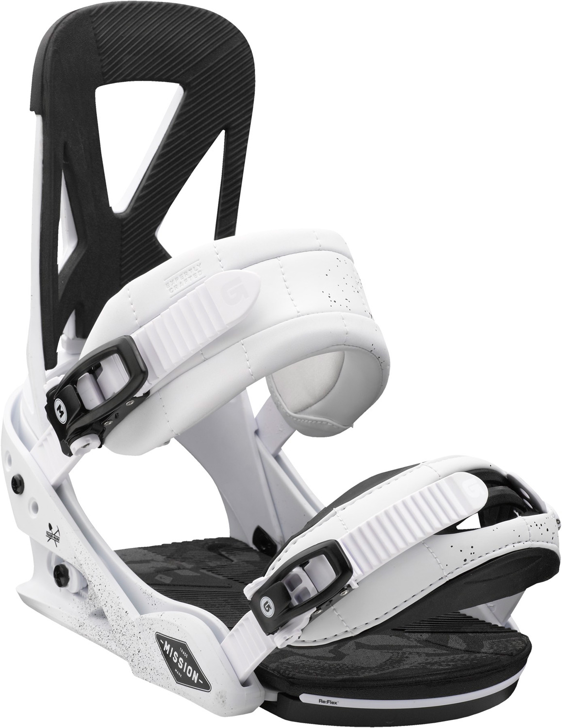 Snowboard Impressive flex meets newfound feel. The Mission continues.Key Features of the Burton Mission Snowboard Bindings: Response: 6 Baseplate: NEW Single-Component 30% Short-Glass/Nylon Composite Re:Flex™ Hi-Back: NEW Single-Component Canted living Hinge™ Zero-lean Hi-Back with DialFlAD™ Straps: Superstrap™ and Gettagrip Capstrap™ Buckles: Smooth Glide™ Buckles Cushioning: Re:Flex FullBED Cushioning System Features Re-Ground Materials in Baseplate and Hi-Back to Reduce Waste - $149.95