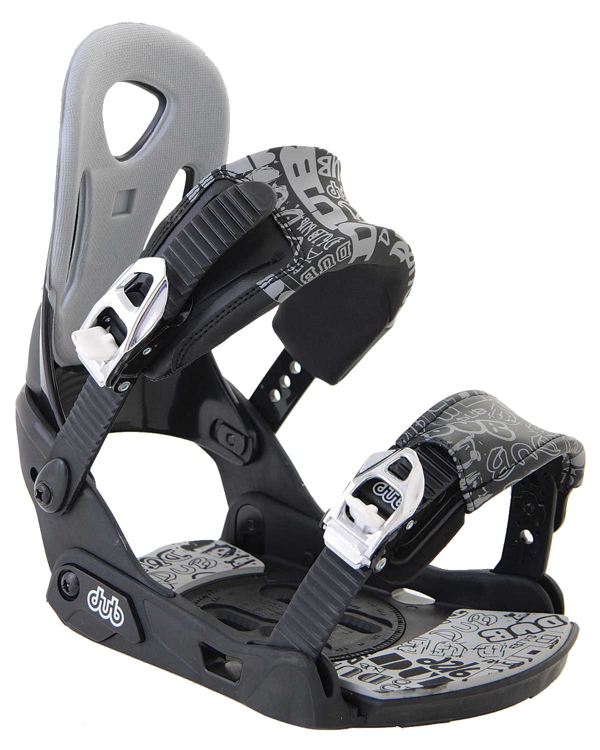 Snowboard The Dub Classic Snowboard Binding has quite a few features built into one great product. It is an all purpose binding. The plastic baseplate and heelcup are backed up by glass reinforcement. The straps are padded for comfort as well as anatomically pre-curved. The straps also feature several tool-free settings for quick adjustment to get you on your way faster. As well as a tool-free forward lean high-back which has an over-molded EVA padding that is thermo-formed.Key Features of the Dub Classic Snowboard Bindings: All Purpose Adult Binding Plastic Heelcup And Baseplate With Glass Reinforcement Anatomical Pre-Curved And Padded Comfort Strap With Multiple Tool-Free Settings Anatomical Alloy Ratchets Tool-Free Forward Lean Anatomical Highback With Over-Molded, Thermo-Formed EVA Padding - $65.95