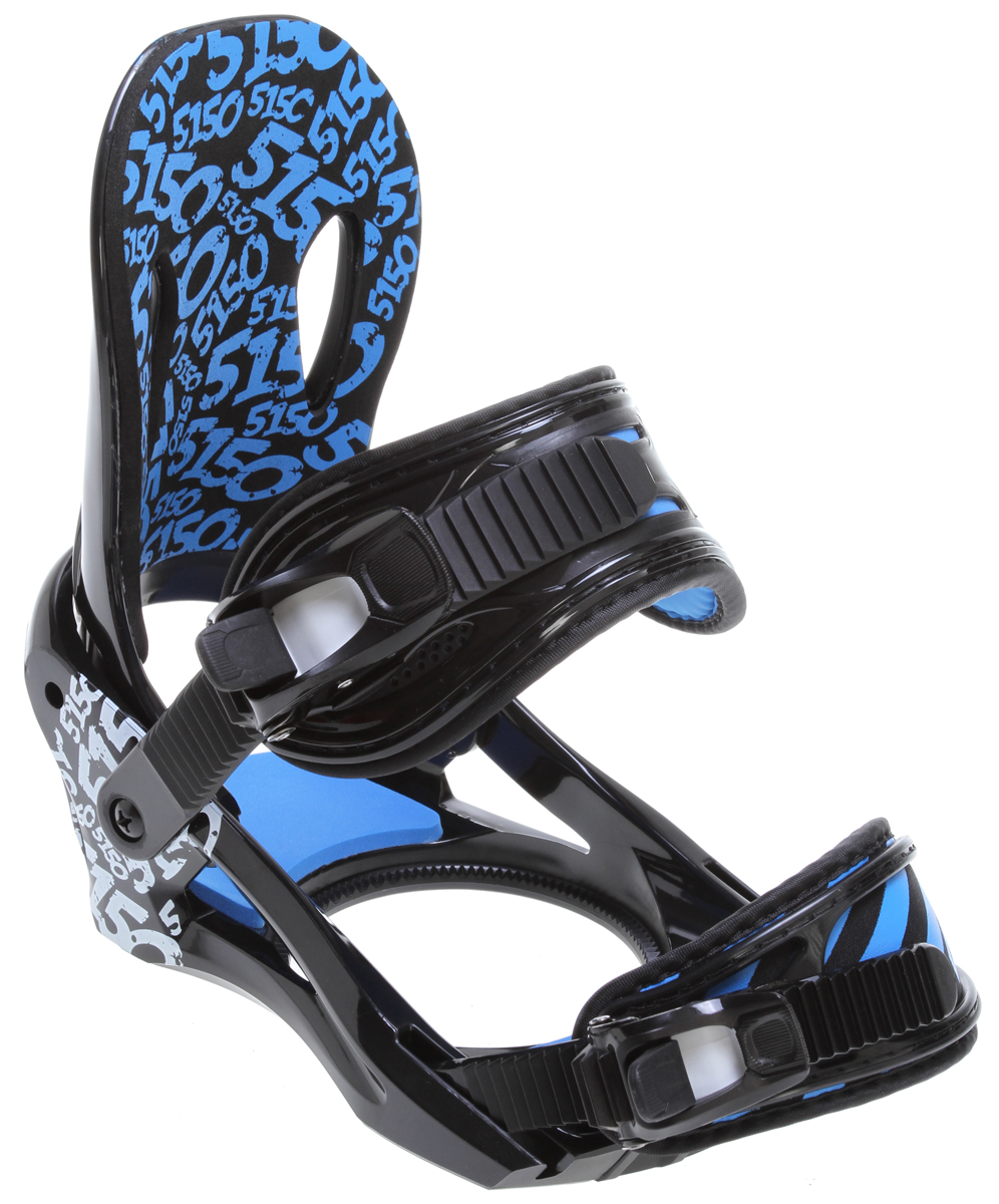 Snowboard The Strato is made for young shredders who want a binding that fits smaller feet, but performs like all the rest.Key Features of the 5150 Strato Snowboard Bindings : Reaction™ chassis with adjustable toe ramps for ultimate response Ultra-flex™ Ankle Straps and XBand™ Toe Straps Padded Anatomical Highback for maximum comfort and control Flip-Lock, Tool-Less, Forward Lean Adjustment Easy-Grab, Quick-Adjust Lift-Release Ratchets 360° Disc Mount for virtually limitless stance options - $66.95